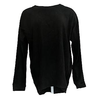 Cuddl Duds Women's Sweater Fleecewear Stretch Pullover Black A293093