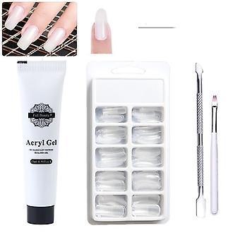 Falske tips Førte Uv Nail Gel Art polske Manicure La1522-1