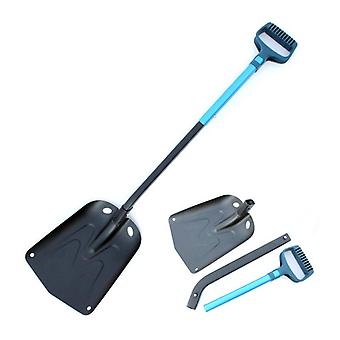 IPRee Stainless Steel Long Handle Snow Shovel Outdoor Folding Snow Scooper Car Wash Maintenance