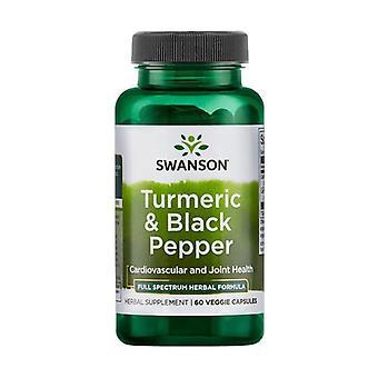 Turmeric & Black Pepper 60 vegetable capsules