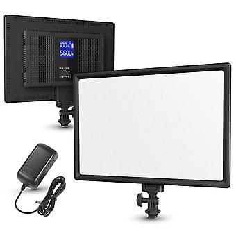 LED video lágy fény panel LCD kijelzővel 3200K-5600K CRI 95+
