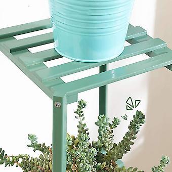Neljä kerrosta yksinkertaisuus metalliteline kasveille, jotka laskeutuvat ylelliseen monikerroksiseen