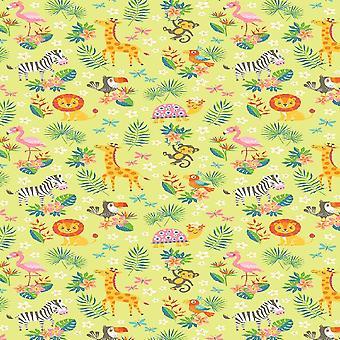 Tapete Impresso Animais Bonitos 2 Multicoloridos em Poliéster, Algodão, L100xP150 cm