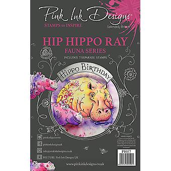 Pink Ink Designs Hip Hippo-Ray A5 Clear Stamp