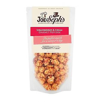 Jahody a smotana Popcorn