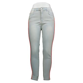 G By Giuliana Women's Jeans Skinny Ankle Twill with Piping Gray 692795