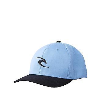 Rip Curl Hombres's Flexfit Cap ~ Tepan Weld azul polvoriento