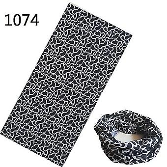 Pattern Hijab Bandana Scarf With Seamless Neck Tubular Shape, Standard Tube