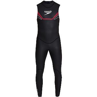 Speedo Proton Thinswim Triathlon Mens Swimming Sleeveless Swimsuit Wetsuit Black
