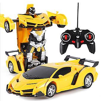 रिमोट कंट्रोल विरूपण रोबोट पुलिस कार रिमोट कंट्रोल खिलौना बच्चों को चार्ज खिलौना