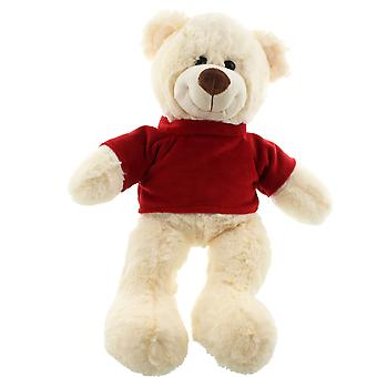 30cm Plush Sitting Bear with Red Jumper Soft Toy