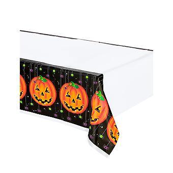 Halloween pompoen plastic tafelkleed