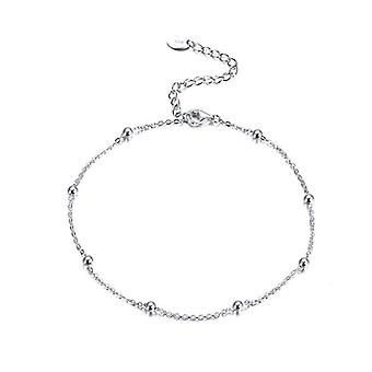 Sterling Silver Anklet, Jewelry 92.5% Silver Ball Beads Ankle Chain