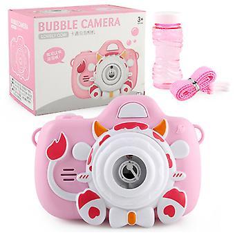 Elektronische muziek bubble camera speelgoed voor kinderen draagbare bubble machine