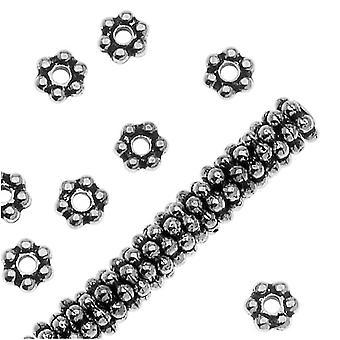 TierraCast rhodium päällystetty Pewter Daisy Spacer Kilvet 3mm (x 50)