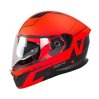 Nitro Helmet F350 Analog DVS Satin Black Red Gun 64 F 350 Cruiser Flip