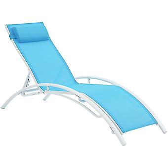 Chaise longue de jardin en aluminium Beauty PHOENIX- Bleu