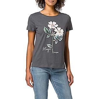 Springfield Camiseta Magic is in You T-Shirt, Medium Grey, XS Woman