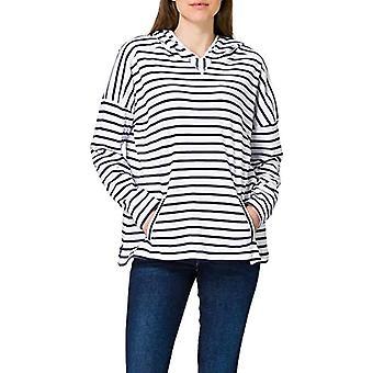 Armor Lux Marine King Capuche T-Shirt, Blanc/Marine Deep, 40 Woman