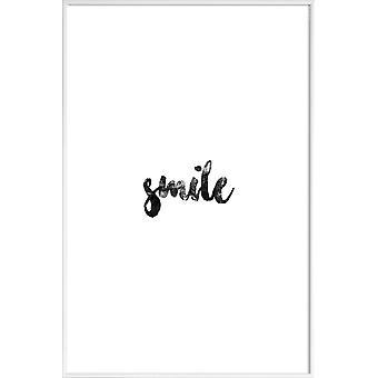JUNIQE Print -  Smile - Motivation Poster in Schwarz & Weiß
