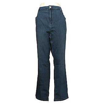 Belle por Kim Gravel Jeans Feminino Plus Straight Leg Blue A383510