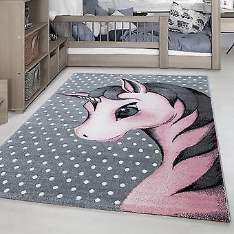 Alfombra para niños KID alfombra de la habitación de los niños patrón unicornio