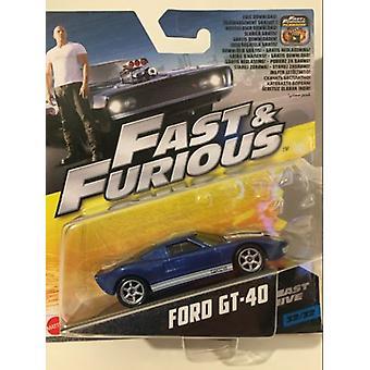 Rápido y Furioso Rápido Cinco Ford GT-40 1:55 Escala Mattel FCN88 2017
