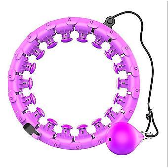 De uz casnic de formare Smart Sport hula hoop, cu detașabil, reglabil Auto-Filare mingea (Purple)