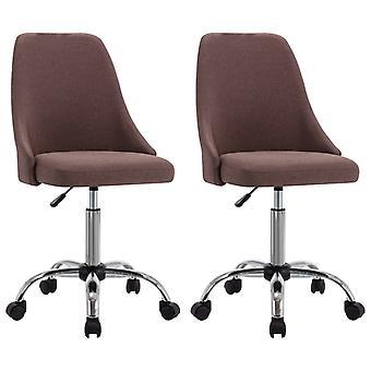 vidaXL chaises de bureau 2 pcs tissu Taupe