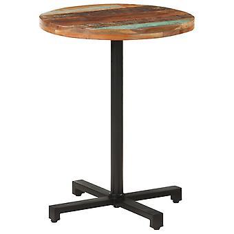 """שולחן ביסטרו vidaXL עגול Ø60x75 ס""""מ עץ ממוחזר מוצק"""