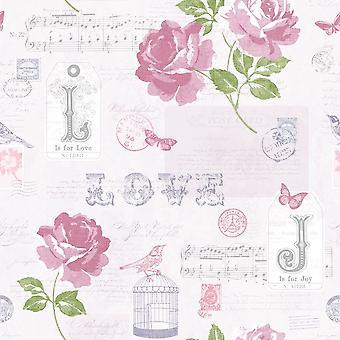 Muriva Sonnet Wallpaper 133504