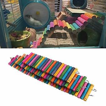 Domáce zvieratá Farebný most Gerbil Cvičebný rebrík