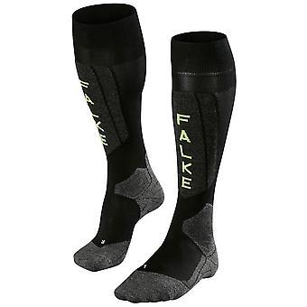 Falke Skiing 5 Knie hohe Socken - Black Lightning