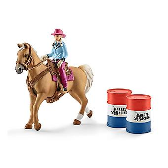 Farm World Barrel Racing met Cowgirl Toy Playset