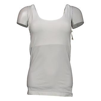 Rhonda Shear Shaper Sem costura Tanque w/Prateleira Bra White Shapewear 586034