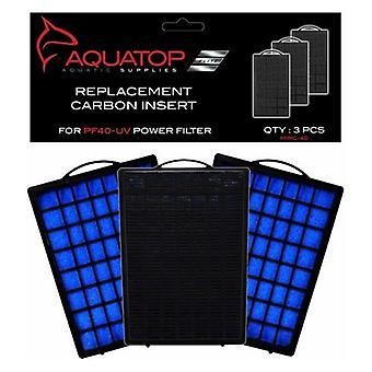 Aquatop Replacement Premium Activated Carbon Insert - PF40-UV - 3 count