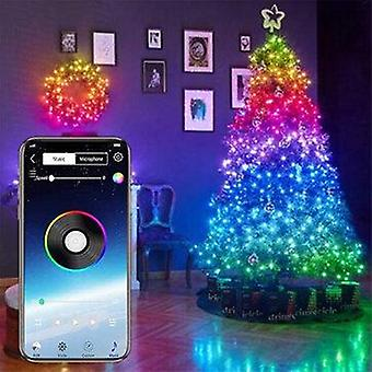 1M/5m/10m/15m/20m 16 millions rgb colors christmas tree decoration lights waterproof led string lights with app bluetooth remote control