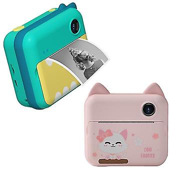 Child instant print camera for children 1080p hd video photo camera toys with 32gb card print paper