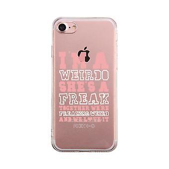 Jag är en Weirdo Transparent BFF telefon fall söt tydlig Phonecase