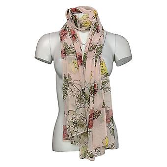 Brittany Humble Women's Shawl Reg Mesh Floral Pink 755970