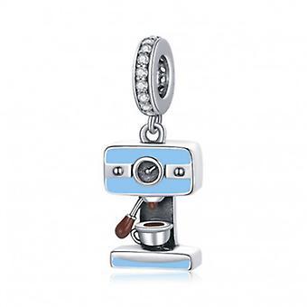 Sterling Silver Pendant Charm Coffee Machine - 7108