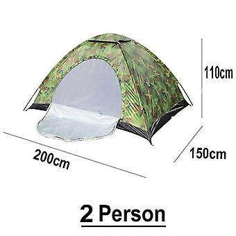 2 Person Portable Camping Camouflage Tent Outdoor Camping Family Large Capacity Camping Tent