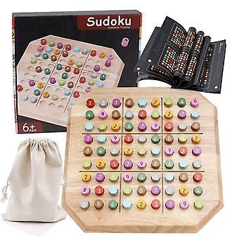Sudoku Giocattolo Educativo Intelligente In legno Gioco da tavolo Giocattoli per giocattoli Regali di Natale|
