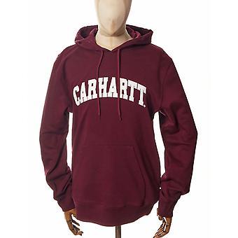 Carhartt WIP University Hooded Sweat - Wijn/wit