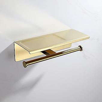 Toilet paper holders brushed gold stainless steel toilet roll holder double ring gold