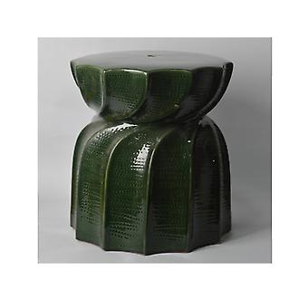 Plutus Brands Plant Stand in Green Porcelain