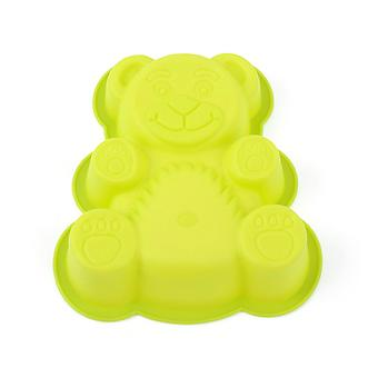 Cute Bear Cake Mould Soft Silicone Biscuits Mould Pudding Cheese Making Tool
