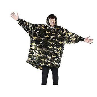 Lazy Blanket Oversized Microfiber & Sherpa Wearable Blanket
