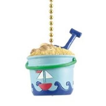 Beach House Sand Bucket Pail Shovel Fan Light Pull
