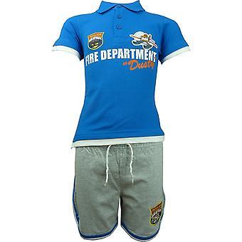 Jungen Disney Pixar Flugzeuge staubigen Polo Kurzarm T-shirt & Shorts Set OE1494